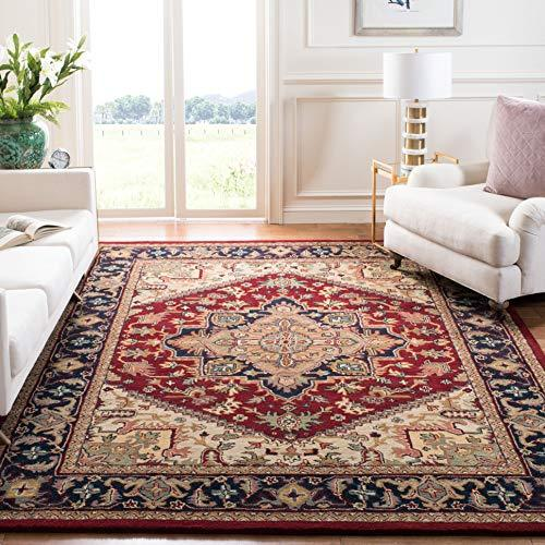 Handcrafted Traditional Oriental Red Wool Area Rug - StayCay Lifestyle
