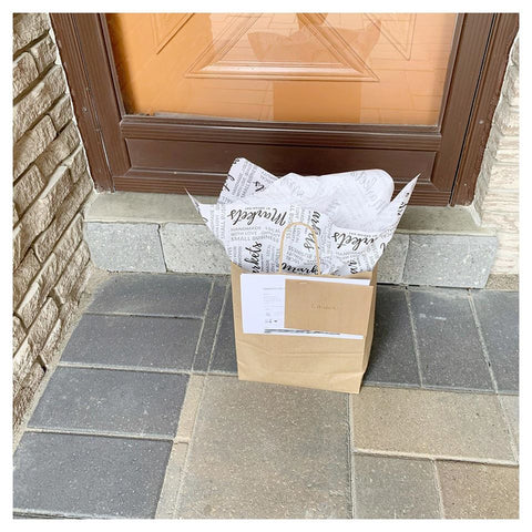 Delivered product on front porch