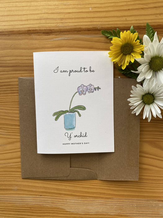 Y'Orchid - Mother's Day Card