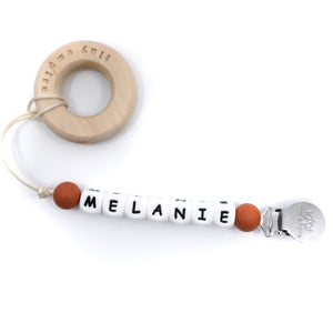 Personalized Silicone Pacifier Clip - Tiny Empire