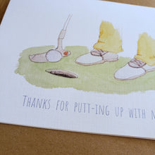 Load image into Gallery viewer, Golfer card - valentine's / anniversary / thank you / appreciation card