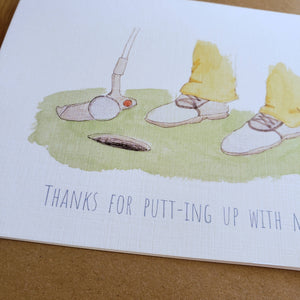 Golfer card - valentine's / anniversary / thank you / appreciation card