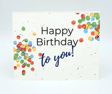 Load image into Gallery viewer, Birthday Seed Paper Greeting Card