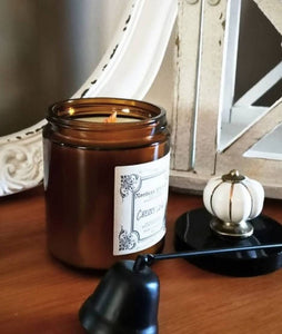 Amber Jar With Wooden Wick, Winter Collection