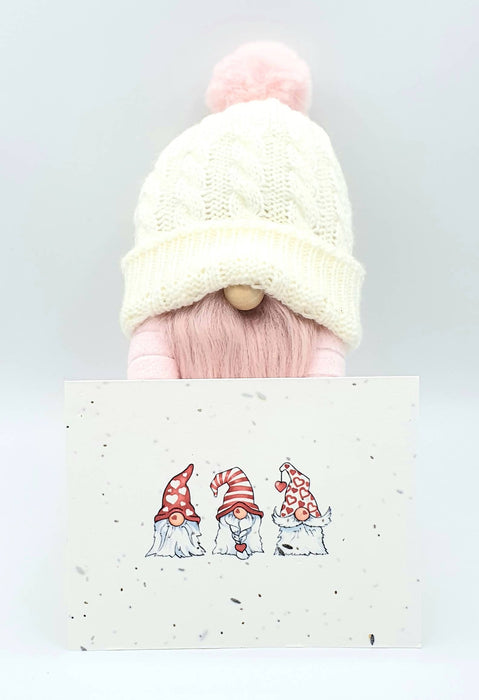 Valentine Gnome with a Gnome Seed Card