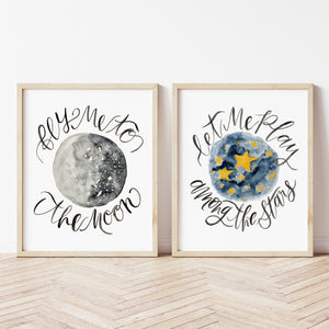 Fly Me To The Moon - SET OF 2