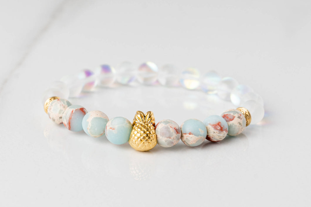 Happiness and Manifestation - Gold Pineapple Bracelet