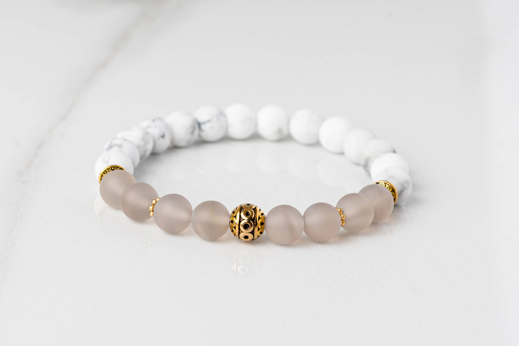 Grounding and Calming - Gold Accent Bracelet
