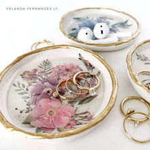 Load image into Gallery viewer, Ring Dish - Winter Florals - Home Decor