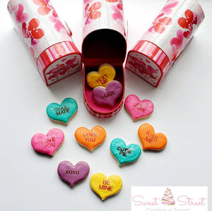 Mini Cookie Conversation Hearts in Mail Box