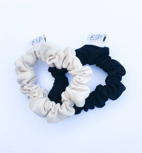 Black+Nude Mini Scrunchie Duo
