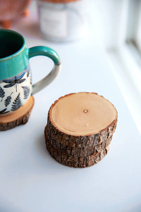 Reclaimed Wood Coasters - Round
