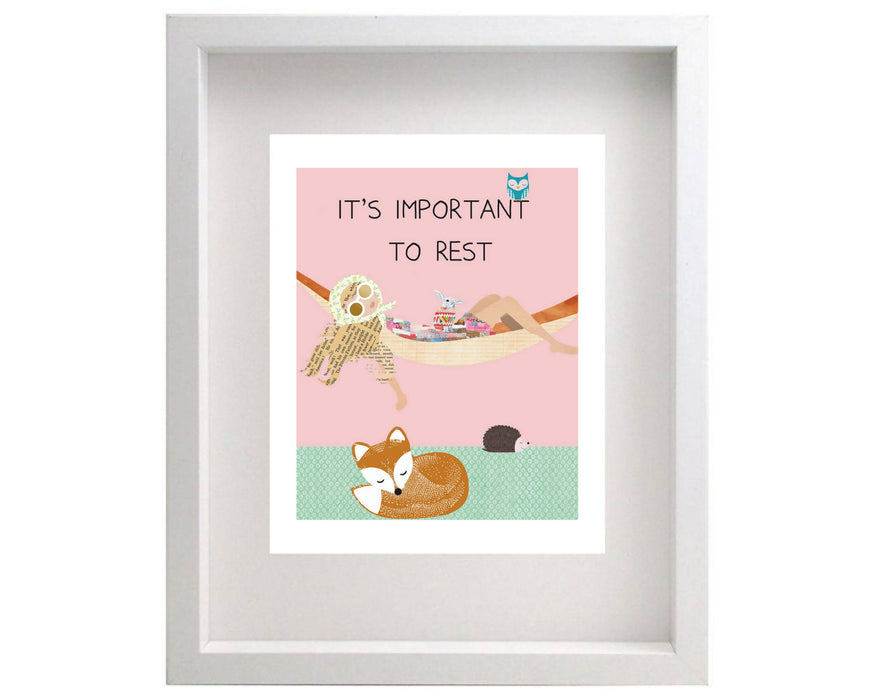 It's Important to Rest - 8x10 Glow Kiddo Glow Affirmation Print