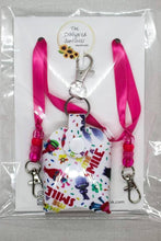 Load image into Gallery viewer, Trolls mask lanyard and sanitizer holder set