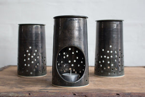 Essential Oil Burner: Metallic Black