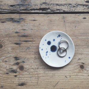 Medium Cobalt Speckled Jewellery Dish