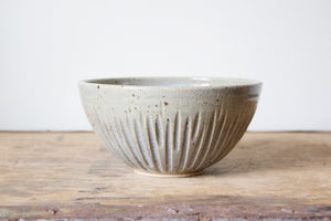 Ribbed Bowl in Rustic Blue