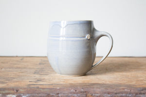 Slightly Flawed Pale Blue/Grey Mug: Six