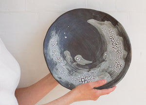 Hand-Painted Pottery Platter