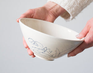 Botanical Serving Bowl: Seven