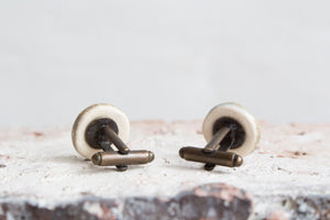 Handmade Ceramic Cufflinks: Two