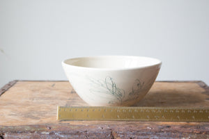 Slightly Flawed Botanical Serving Bowl in Pale Green: One