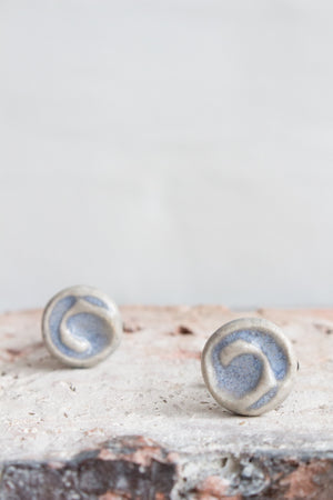 Handmade Ceramic Cufflinks: Three