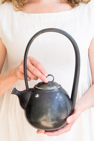 Tall-Handled Teapot in Black