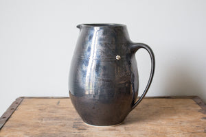 Elegant Jug in Metallic Black