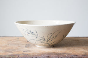 Slightly Flawed Botanical Serving Bowl: Three