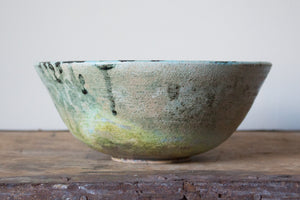 Sea Foam Green Raku Bowl