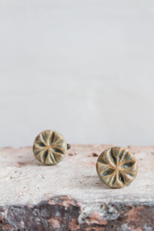Handmade Ceramic Cufflinks: Eight