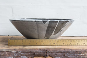 Black and White Pottery Serving Bowl