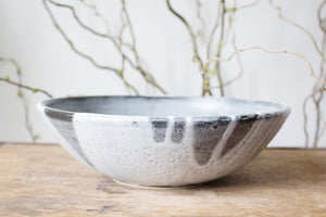 Black and White Serving Bowl