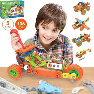 136 PCS STEM Learning Toys - Educational Engineering and DIY STEM Construction Kit-Kids, Toys & Baby-Weekly Top Deal