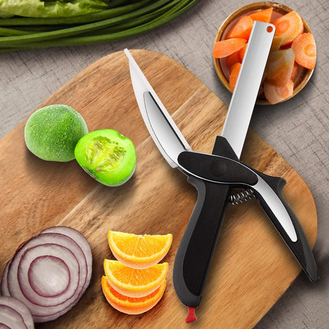 2-in-1 Clever Food Chopper Cutter & Cutting Board-Home Collection-Weekly Top Deal