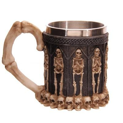 3D Creative Skull Mug Double Wall Stainless Steel Tea Cup-Home Collection-Weekly Top Deal
