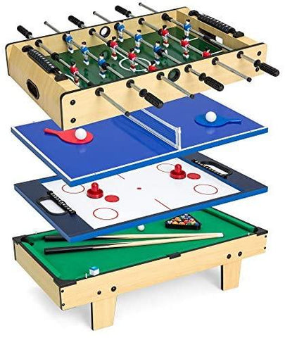 4-in-1 Game Table w/Pool Billiards, Air Hockey, Foosball and Table Tennis-KIDS, TOYS & BABY-Weekly Top Deal