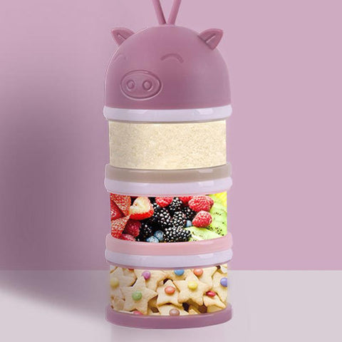 4 Layers Detachable Pink Baby Food Container-Kids, Toys & Baby-Weekly Top Deal