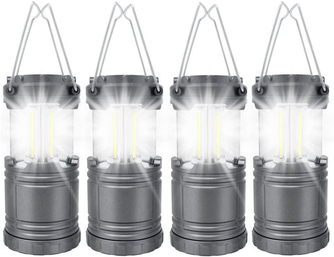 4 Pack COB Camping Lantern, Portable High Lumen Outdoor Camping Flashlight Torch Light-Outdoor Gear-Weekly Top Deal