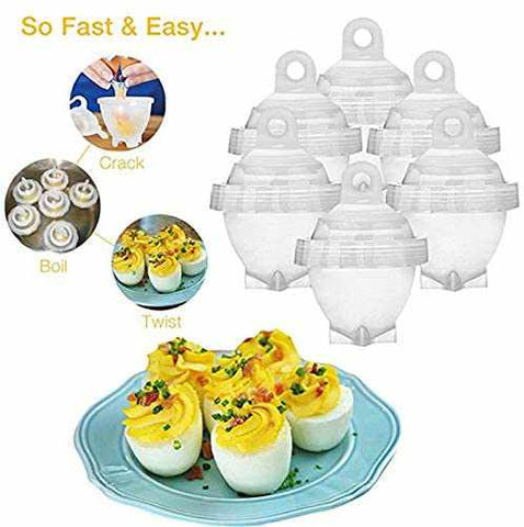 7pcs/Set Egg Poachers Hard Boil Cooker Eggs White Separator Cooking Tools-Home Collection-Weekly Top Deal