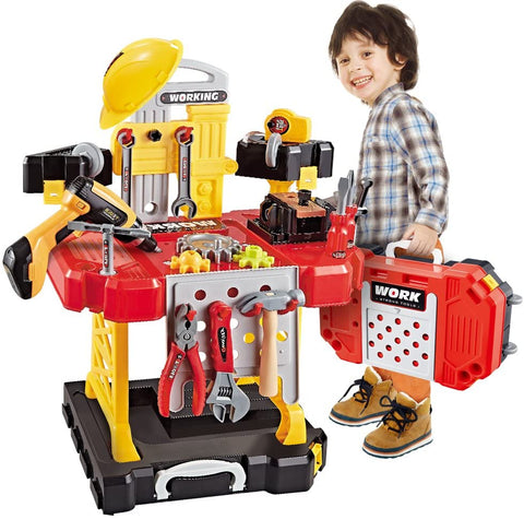 83 Pieces Kids Construction Toy Workbench-Kids, Toys & Baby-Weekly Top Deal