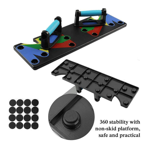 9 in 1 Push Up Rack Training Board ABS abdominal Muscle Home Fitness Equipment-Beauty & Health-Weekly Top Deal