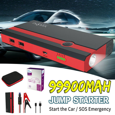 99900mAh Portable 12V Car Jump Starter Power Bank Booster USB Charger-Electronic-Weekly Top Deal