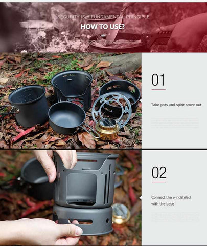 ALUMINIUM ALLOY OUTDOOR TABLEWARE SET-Outdoor Gear-Weekly Top Deal