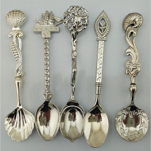 Antique Classic Stainless Steel Soup Spoon, 1set-Home Collection-Weekly Top Deal
