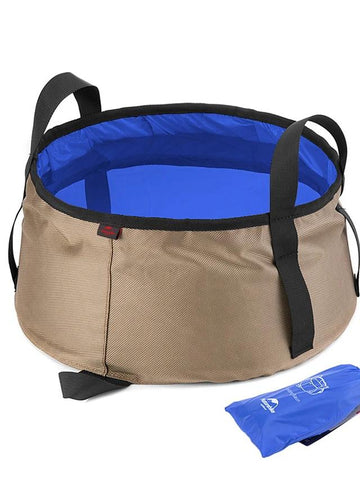 Camping Collapsible Bucket 10 L Laundry Basket Quick Dry Foldable-Outdoor Gear-Weekly Top Deal
