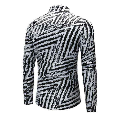 Casual - Striped Classic Collar Shirt-Men-Weekly Top Deal
