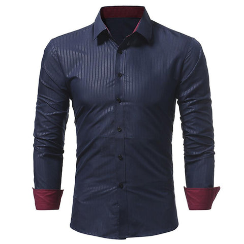 Casual Work Business Shirt -Striped Print-Men-Weekly Top Deal