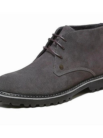 Comfort Shoes Cowhide Boots Booties / Ankle Boots-Men-Weekly Top Deal